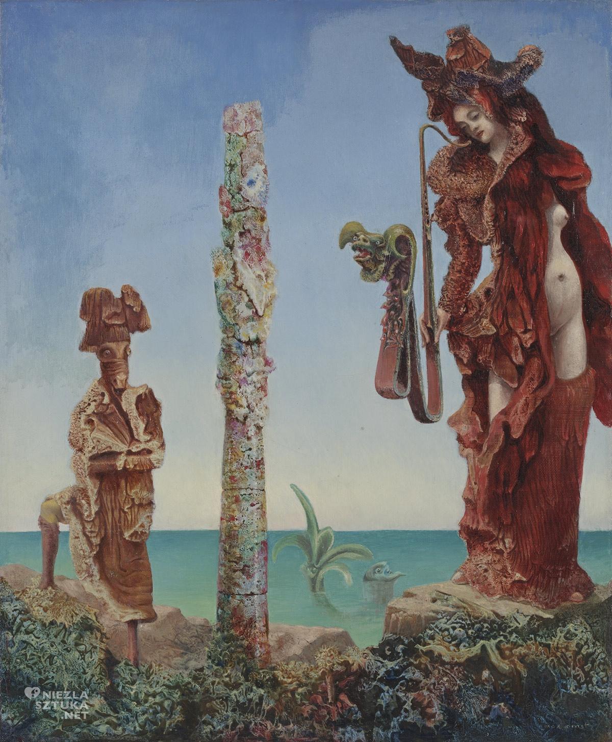 Max Ernst, Napoleon na pustyni, surrealizm, surrealizm niemiecki, malarstwo niemieckie, Niezła Sztuka