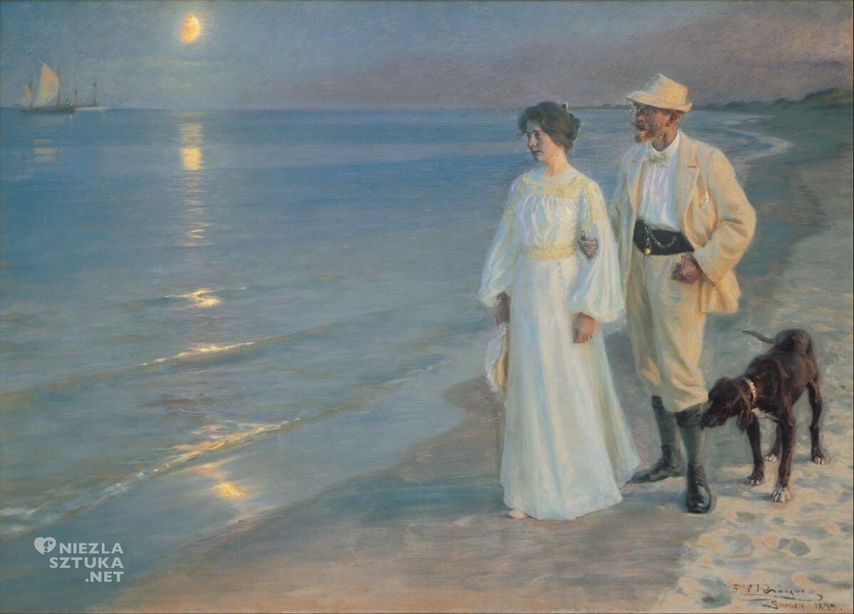 Peder Severin Krøyer, Letni wieczór na plaży w Skagen, sztuka skandynawska, Niezła sztuka