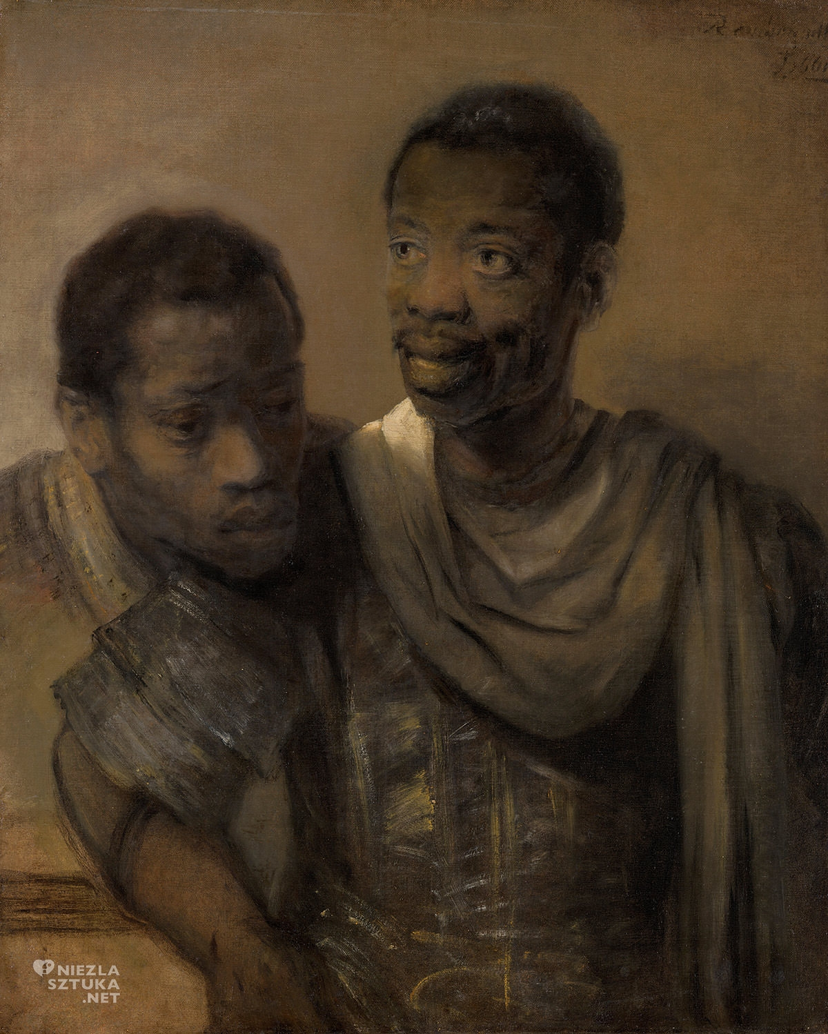 Rembrandt, Dwaj Afrykańscy mężczyźni, sztuka holenderska, Niezła sztuka