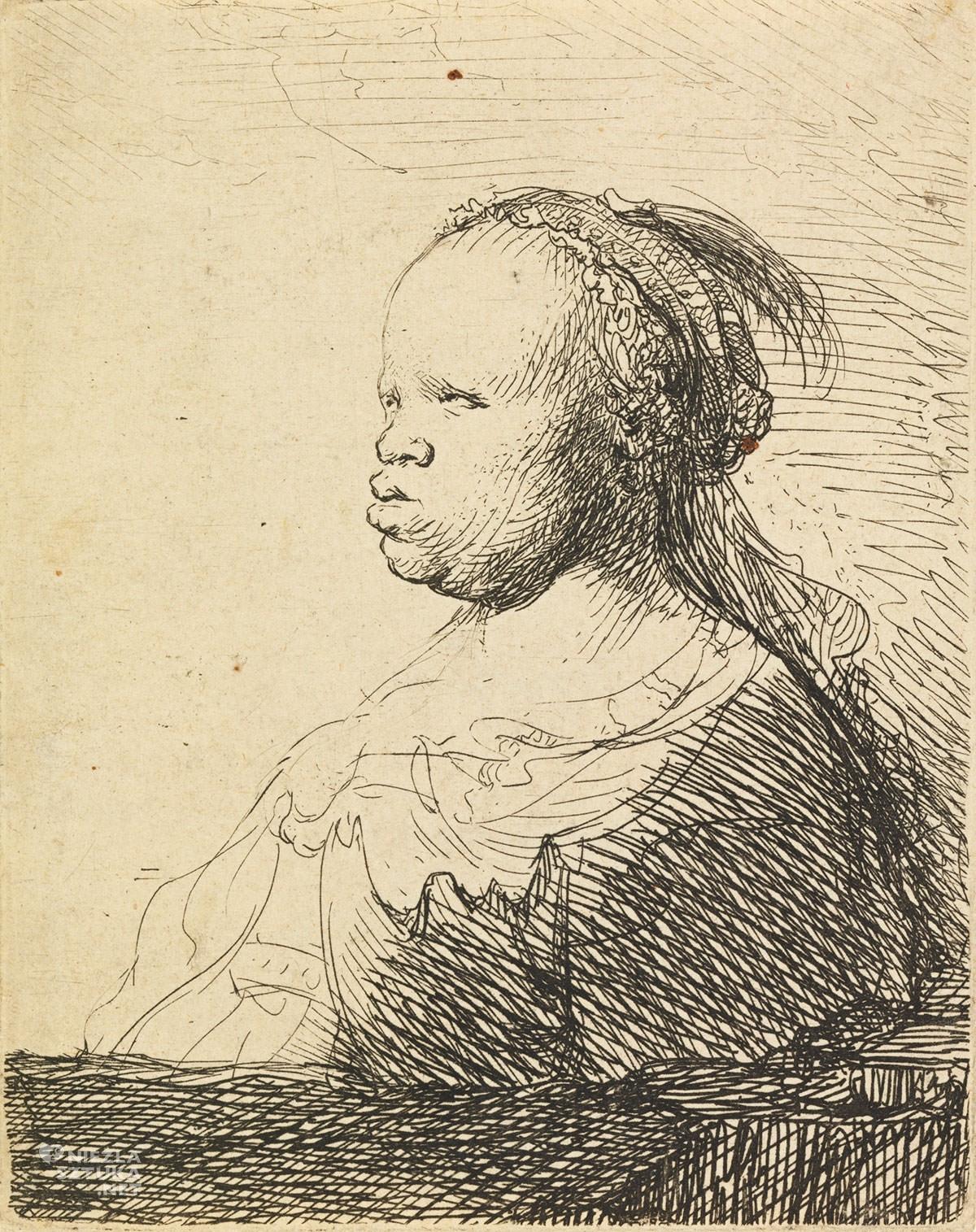 Rembrandt, Murzynka, grafika, malarstwo holenderskie, sztuka holenderska, Niezła sztuka