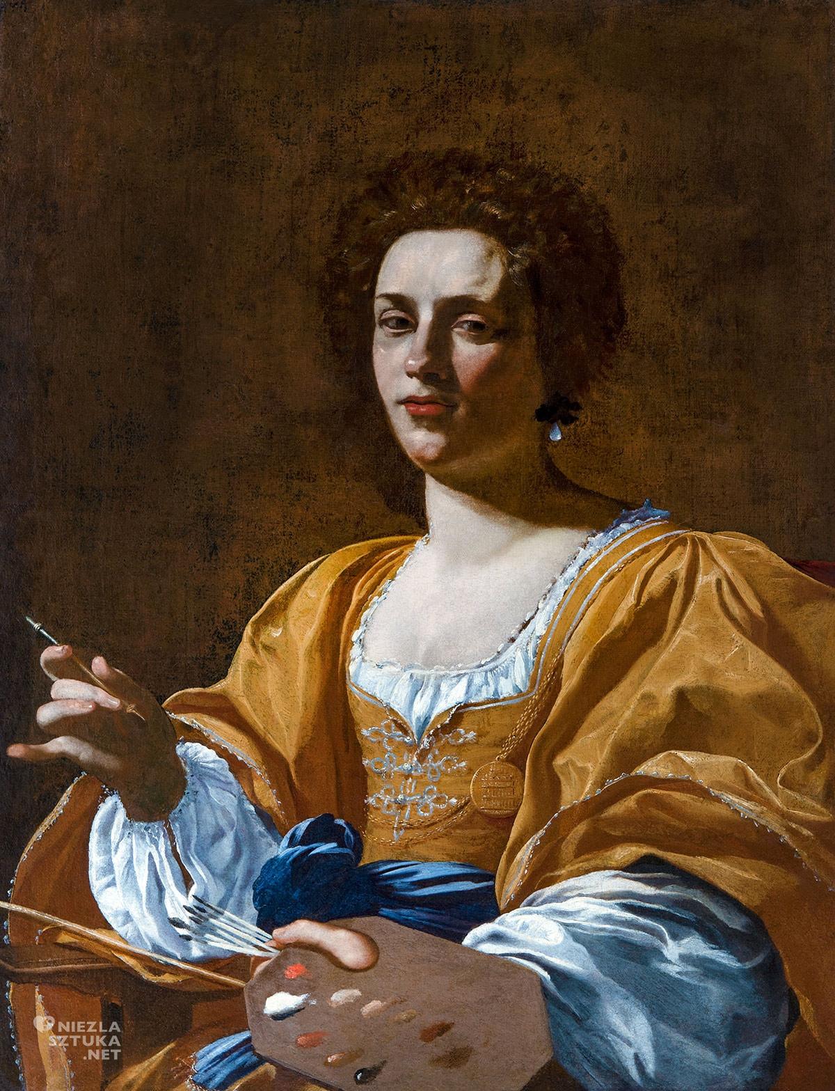 Simon Vouet, Portret Artemisii Gentileschi, Artemisia Gentileschi, portret kobiecy, malarstwo barokowe, Niezła Sztuka
