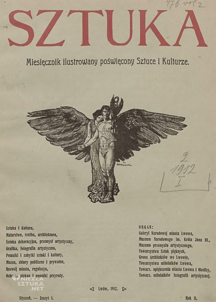 Feliks Michał Wygrzywalski, miesięcznik Sztuka, czasopismo, ilustracja, malarz polski, sztuka polska, Niezła sztuka