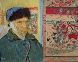Vincent van Gogh, Autoportret z zabandażowanym uchem, malarstwo europejskie, sztuka europejska, detal, fragment, Niezła Sztuka