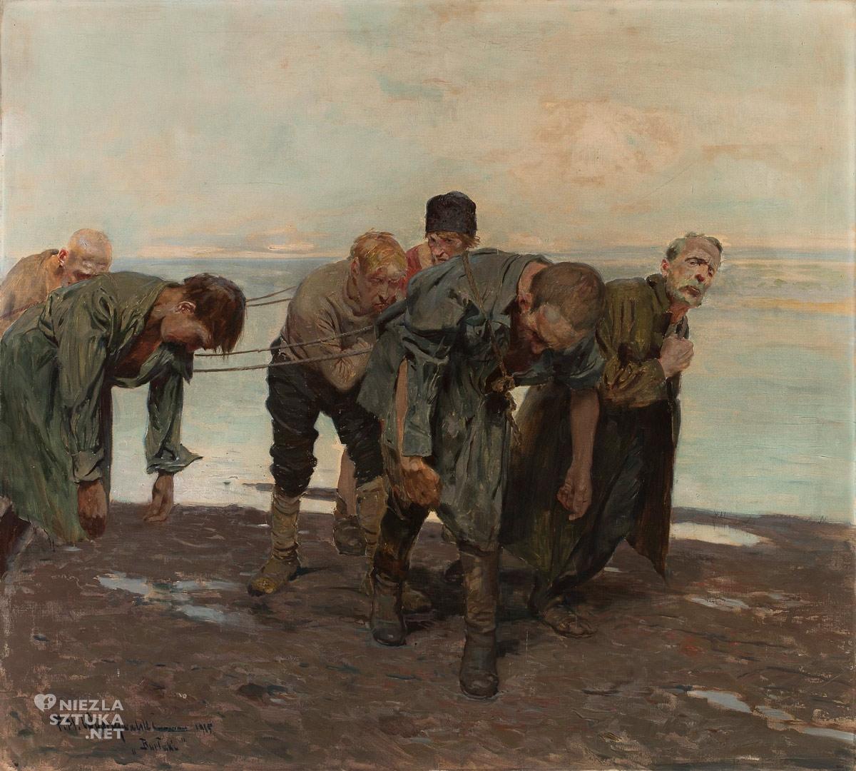 Feliks Michał Wygrzywalski, Burłacy, malarstwo polskie, malarstwo rodzajowe, Niezła Sztuka