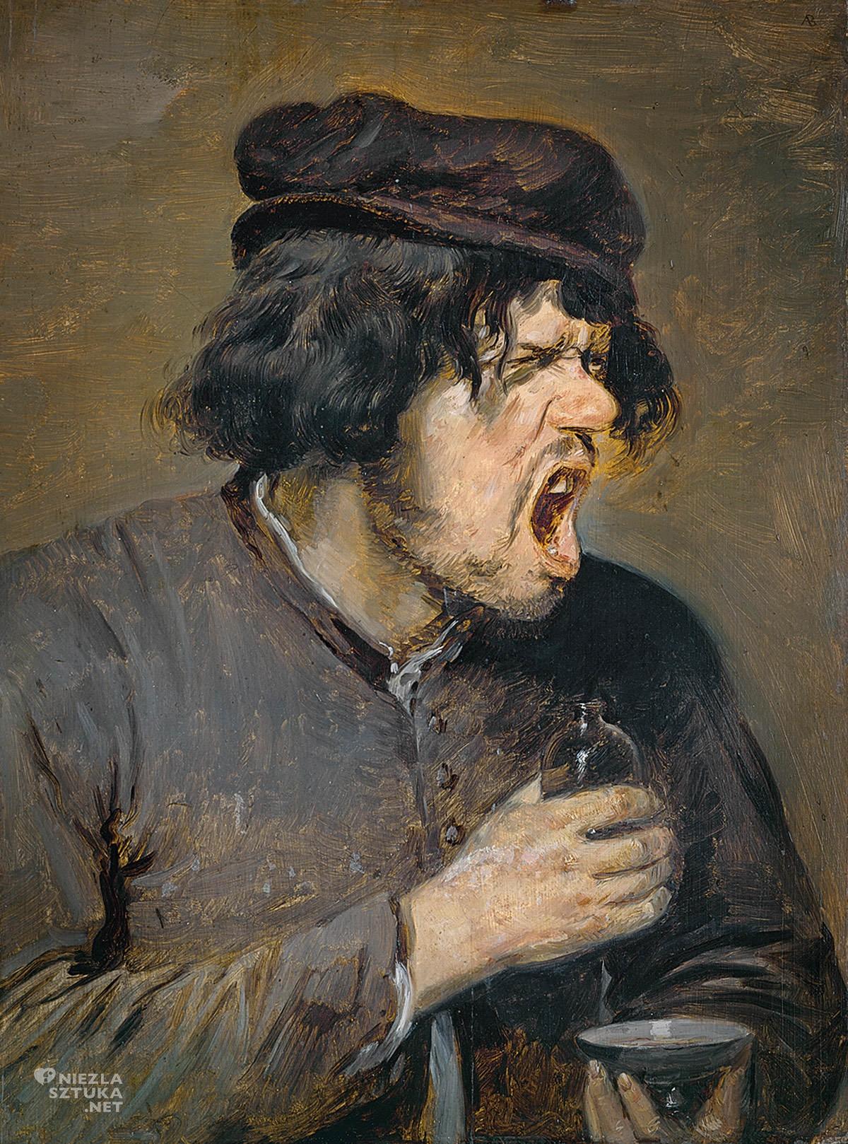 Adriaen Brouwer, Gorzki łyk, malarstwo flamandzkie, Niezła sztuka