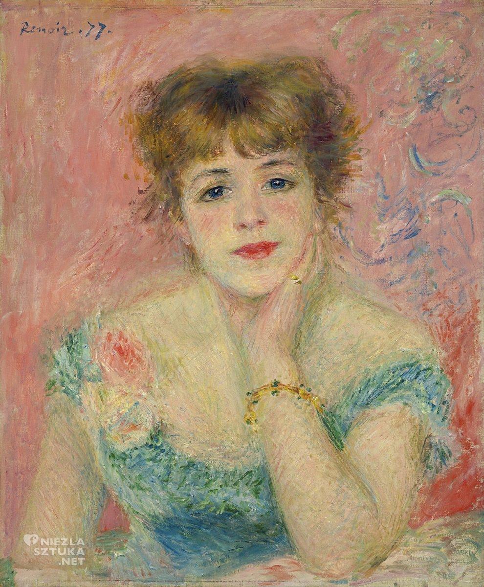 Pierre-Auguste Renoir, Jeanne Samary, muza, aktorka, modelka, kobiety w sztuce, impresjonizm,Niezłą Sztuka