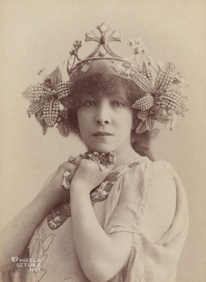 Sarah Bernhardt, La Princesse Lointaine, aktorka, muza, kobiety w sztuce, fotografia, Niezła Sztuka