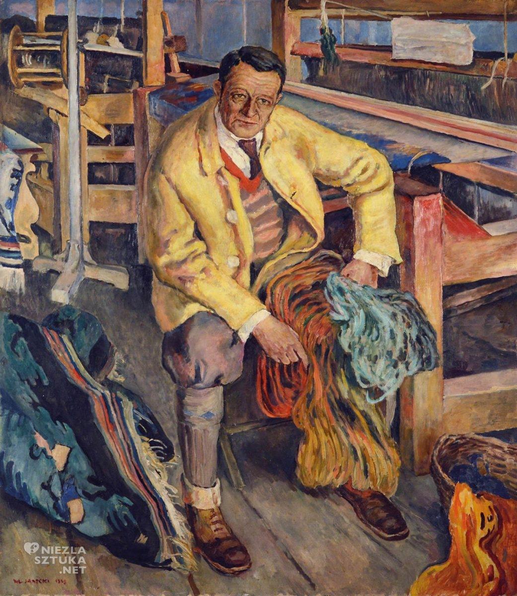 Władysław Jarocki, Portret Kazimierz Brzozowskiego, malarstwo polskie, sztuka polska, Niezła Sztuka
