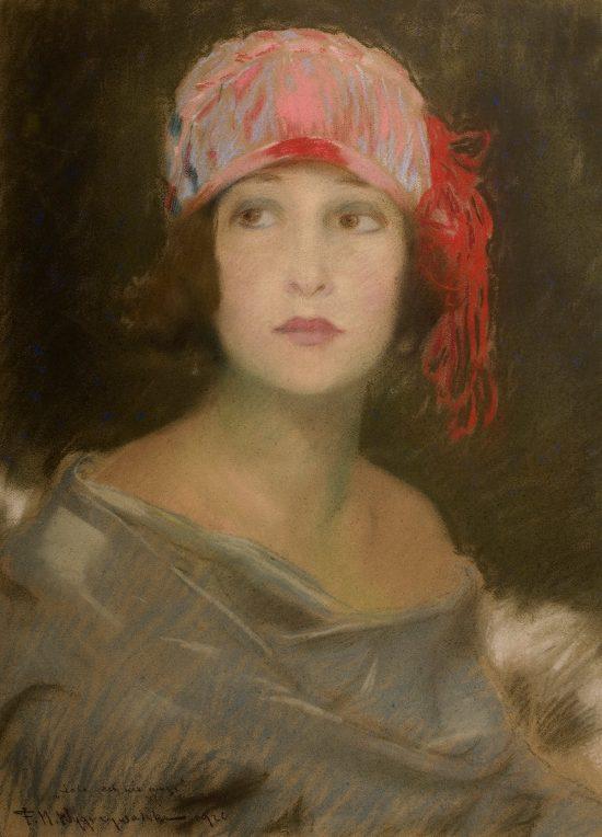 Feliks Michał Wygrzywalski, Lola, portret kobiety, sztuka polska, Niezła sztuka