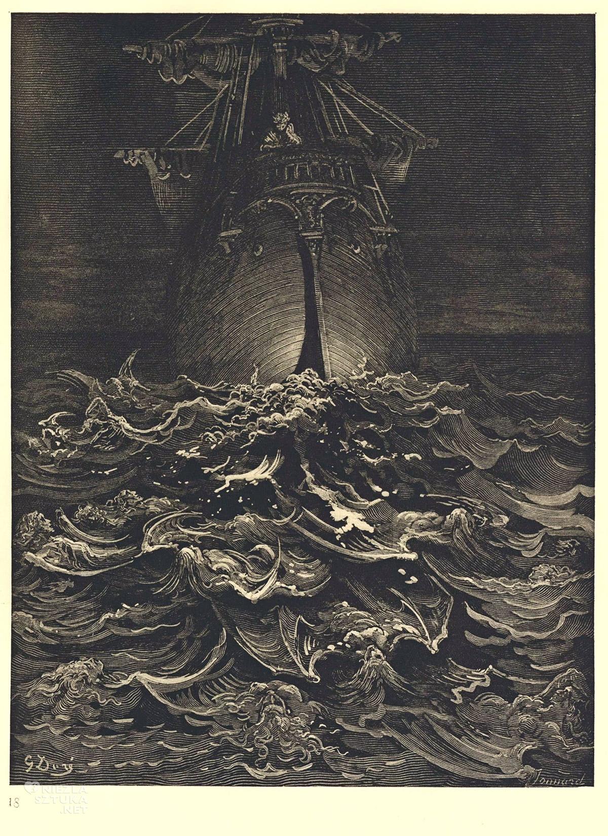 Gustave Dore, Ilustracja do Rymów o starym marynarzu, grafika, Niezła Sztuka