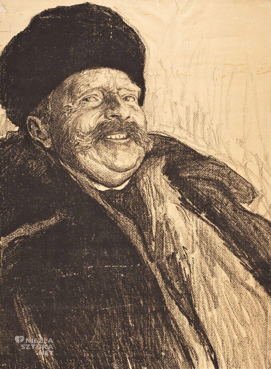 Władysław Jarocki, szkic, studium do obrazu, Zagłoba ukraiński, sztuka polska, malarstwo polskie, Niezła Sztuka
