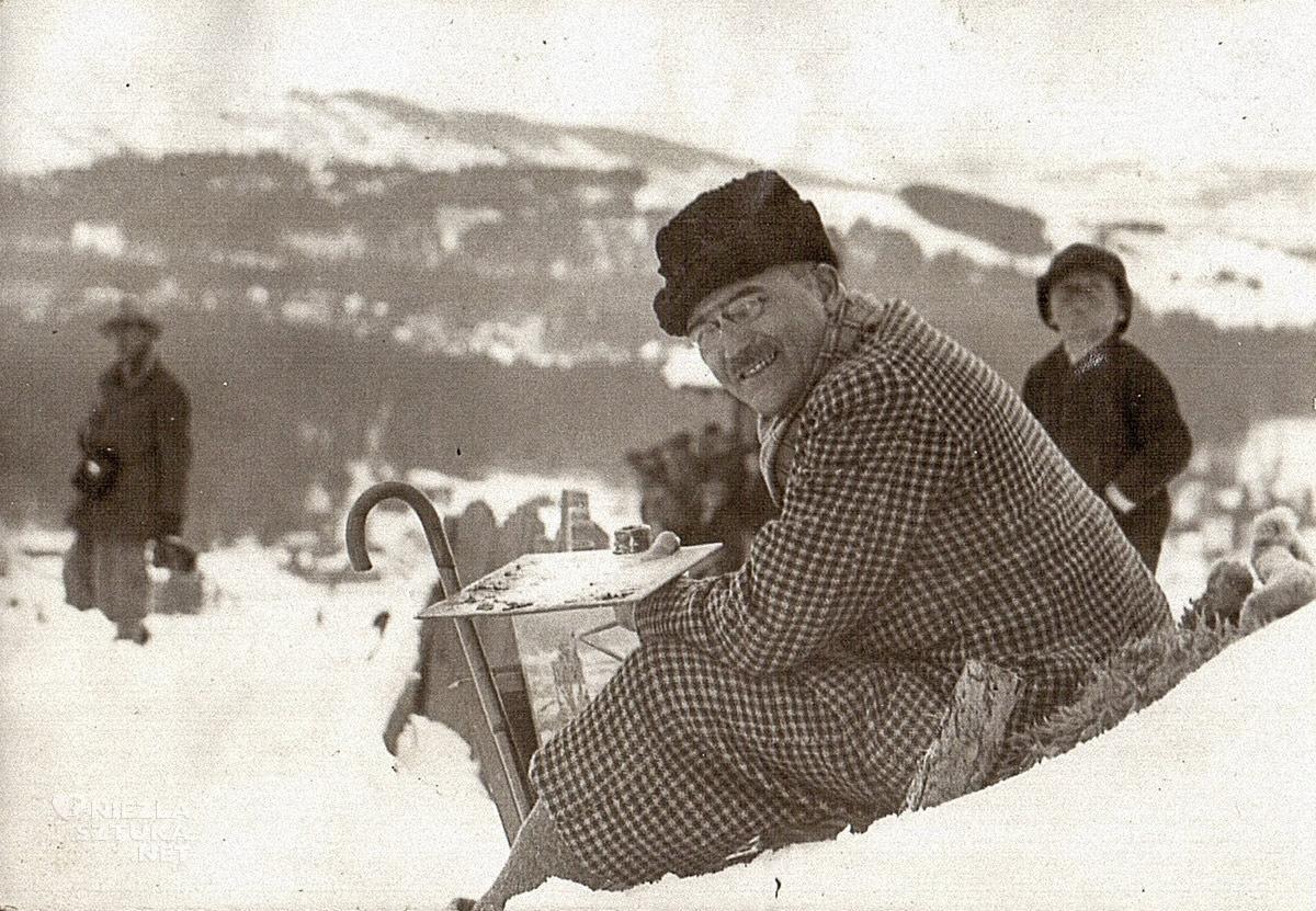 Władysław Jarocki, fotografia, góry, malarz, plener, Niezła Sztuka