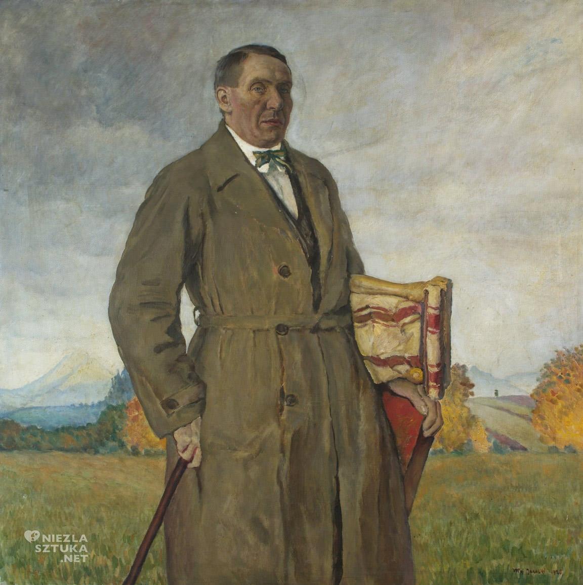 Władysław Jarocki, Portret Stanisława Kamockiego, sztuka polska, malarstwo polskie, Niezła Sztuka