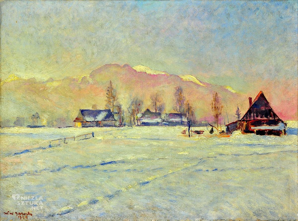 Władysław Jarocki, Tatry w zimie, zima, góry, sztuka polska, malarstwo polskie, Niezła Sztuka