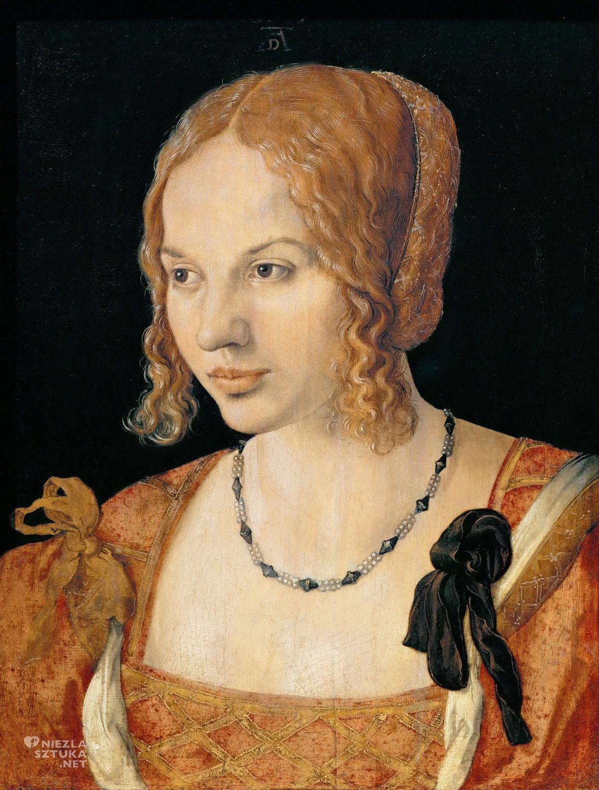 Albrecht Dürer, Kunsthistorisches Museum, portret, Wiedeń, Wenecja, Wenecjanka, Niezła sztuka