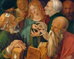 Albrecht Durer, Chrystus wśród uczonych w Piśmie, Niezła sztuka