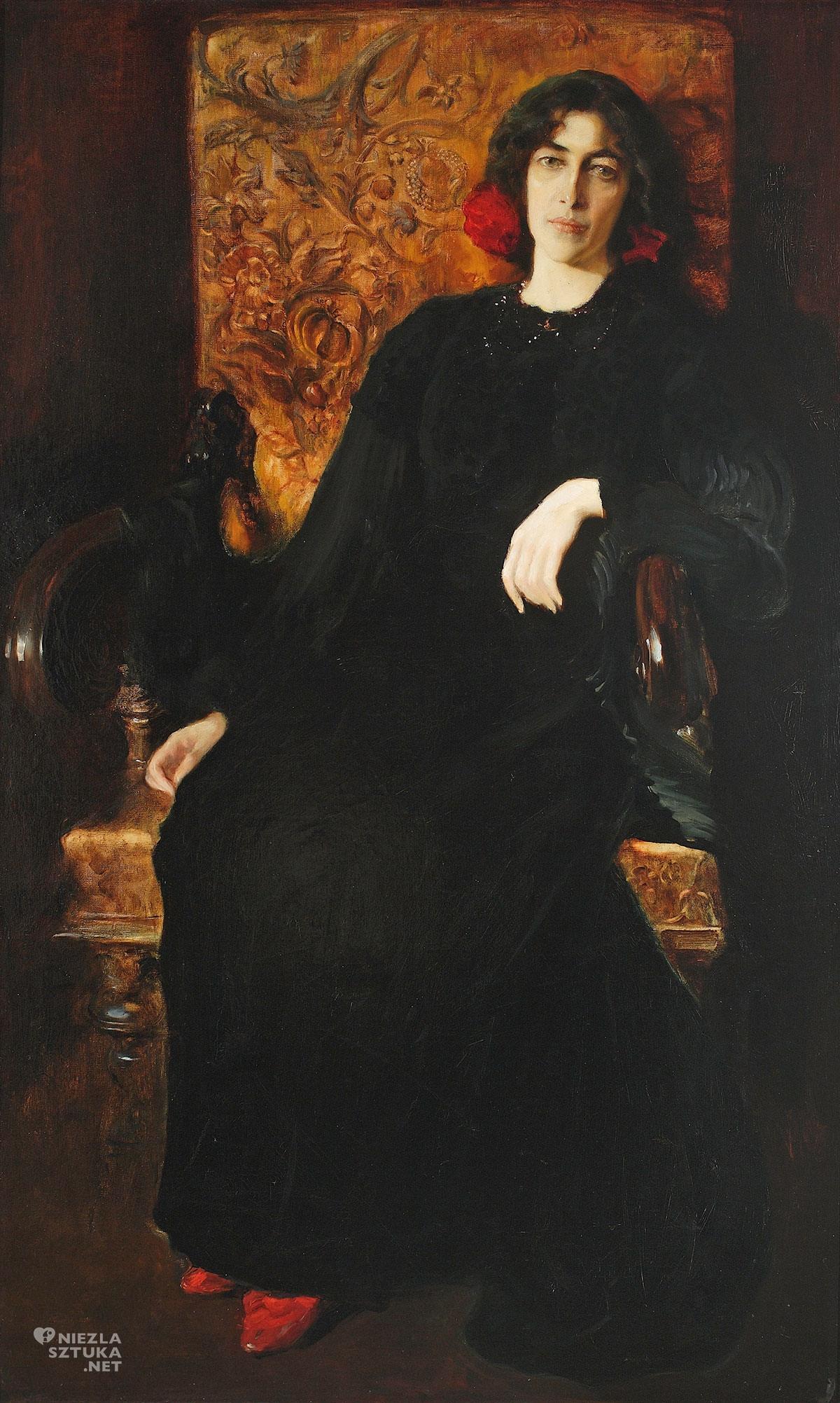 Kazimierz Stabrowski, Portret żony, Julia Janiszewska, Julia Stabrowska, sztuka polska, Niezła Sztuka