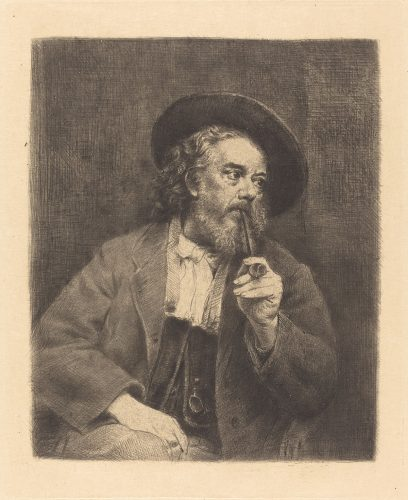 Marcellin Gilbert Desboutin, Autoportret, sztuka francuska, francuski malarz, Niezła sztuka