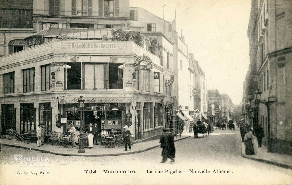 Café de la Nouvelle Athènes, kawiarnia Paryż, bohema, Niezła sztuka
