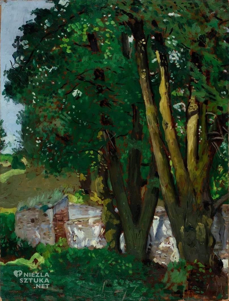 Symcha Trachter, Dwie lipy, malarstwo polskie, malarz żydowski, Niezła Sztuka