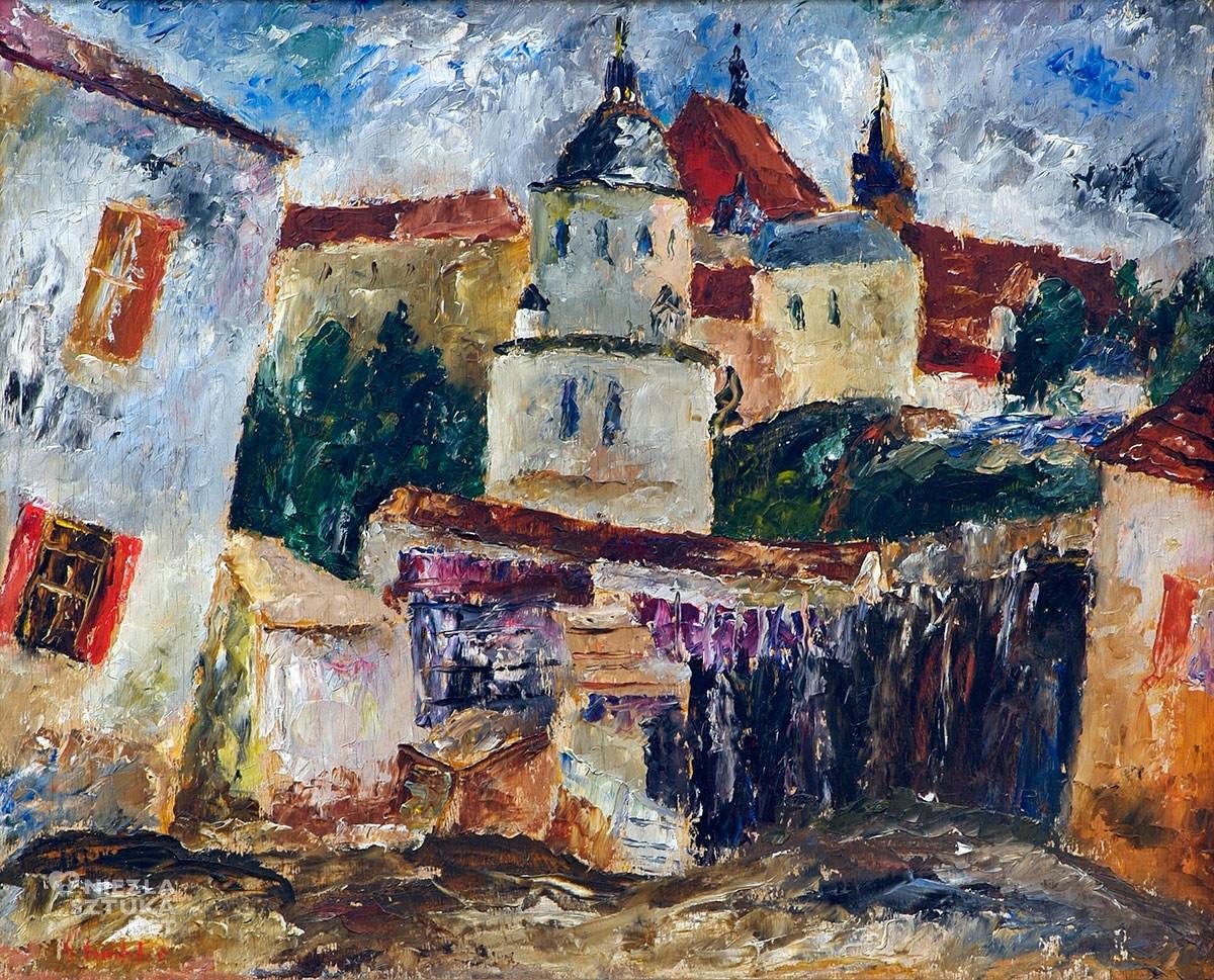 Symcha Trachter, obraz, szkic, sztuka polska, żydowski malarz, Niezła Sztuka