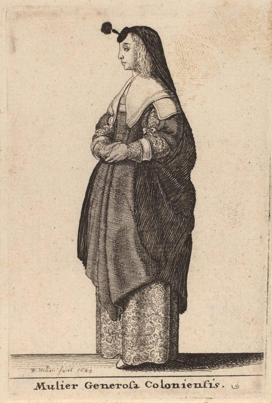 Vaclav Hollar, Dama z Kolonii, ilustracja, Czechy, Niezła Sztuka
