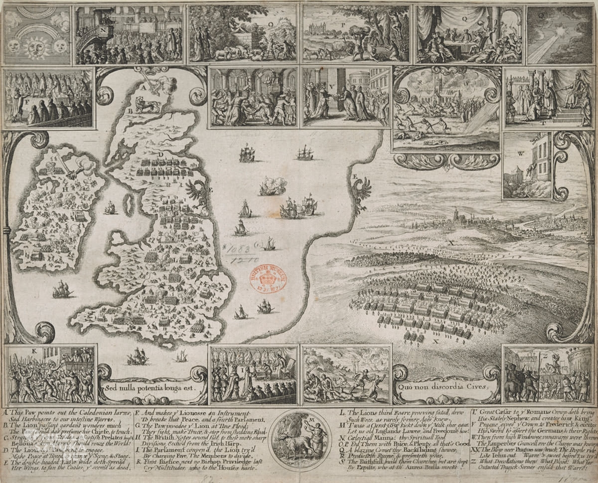 Vaclav Hollar, mapa, wojna, Czechy, Anglia, Niezła Sztuka