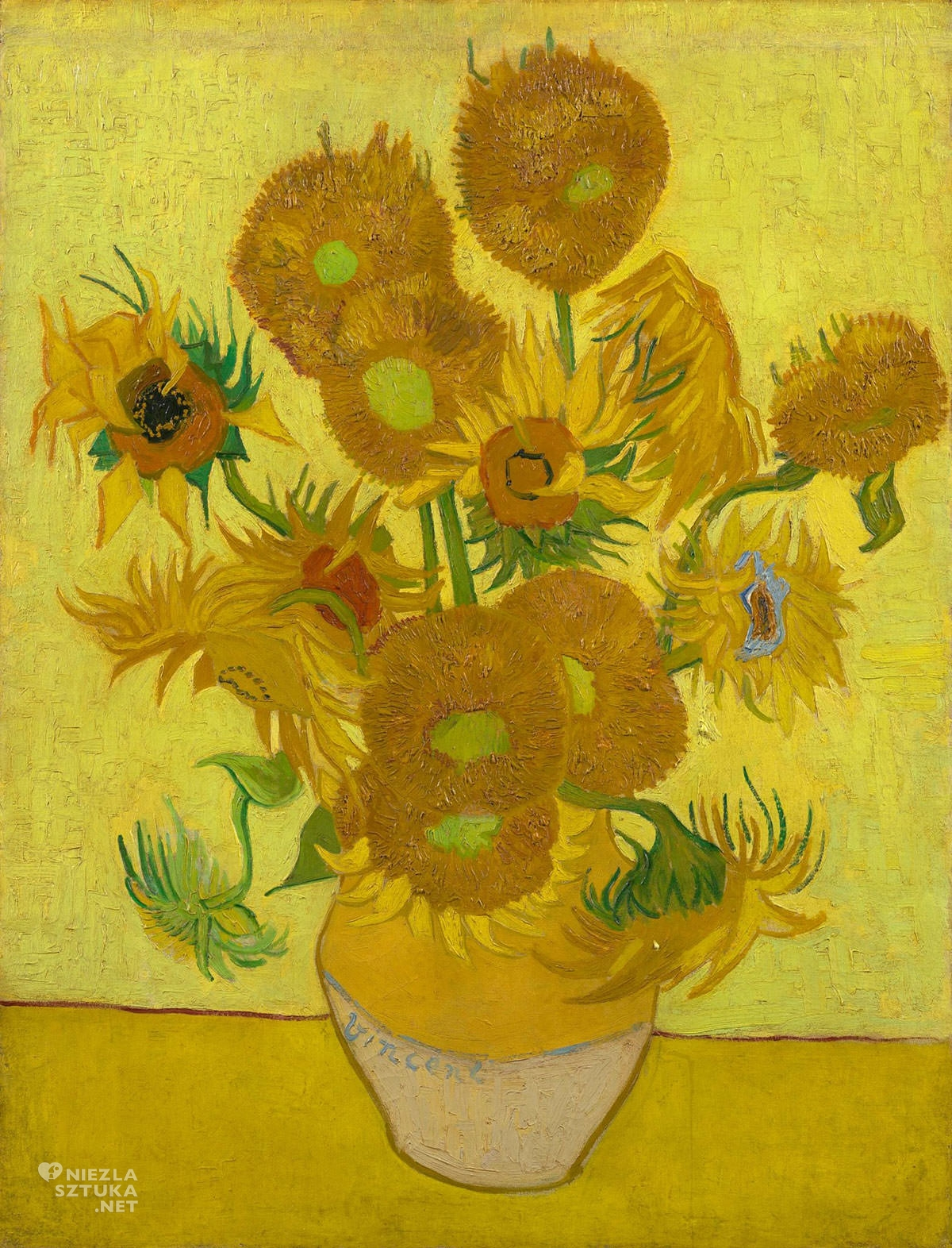 Vincent van Gogh, van Gogh słoneczniki, słoneczniki, van Gogh Museum Amsterdam, malarstwo holenderskie, Niezła sztuka