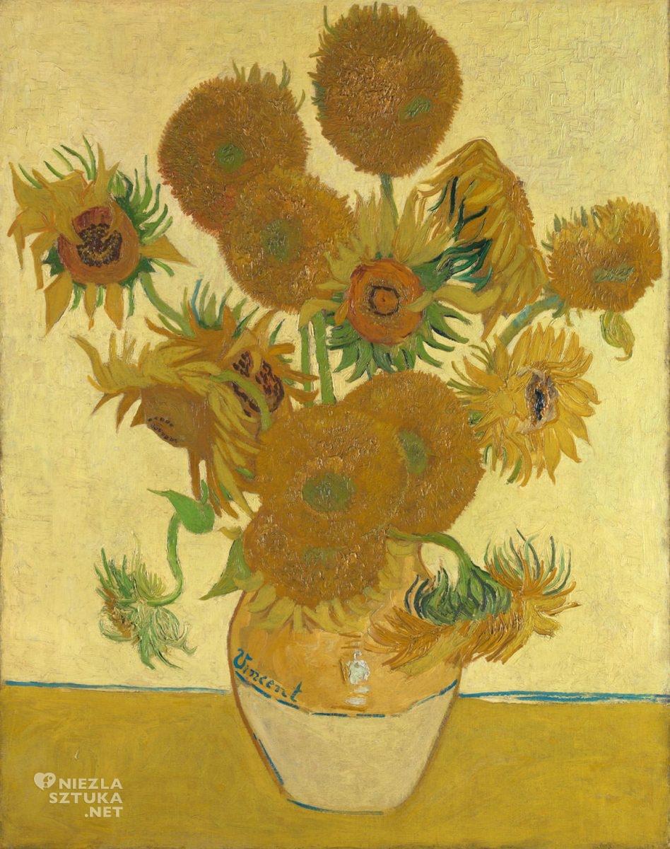 Vincent van Gogh, van Gogh słoneczniki, słoneczniki, National Gallery Londyn, malarstwo holenderskie, Niezła sztuka