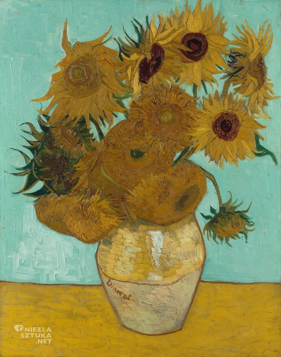 Vincent van Gogh, van Gogh słoneczniki, słoneczniki, Neue Pinakothek Monachium, malarstwo holenderskie, Niezła sztuka