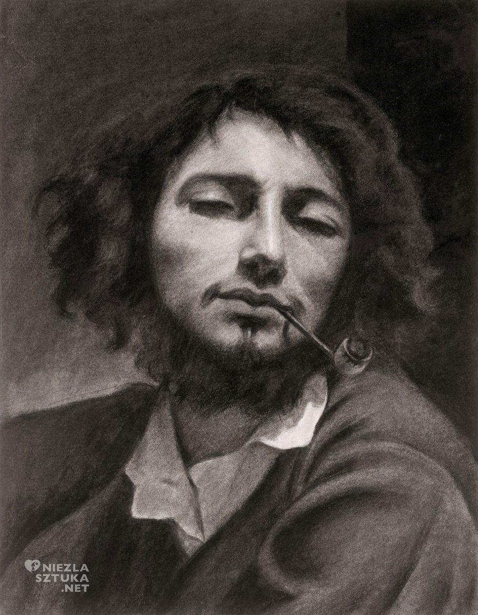 Gustave Courbet, Mężczyzna z fajką, Autoportret, Niezła sztuka