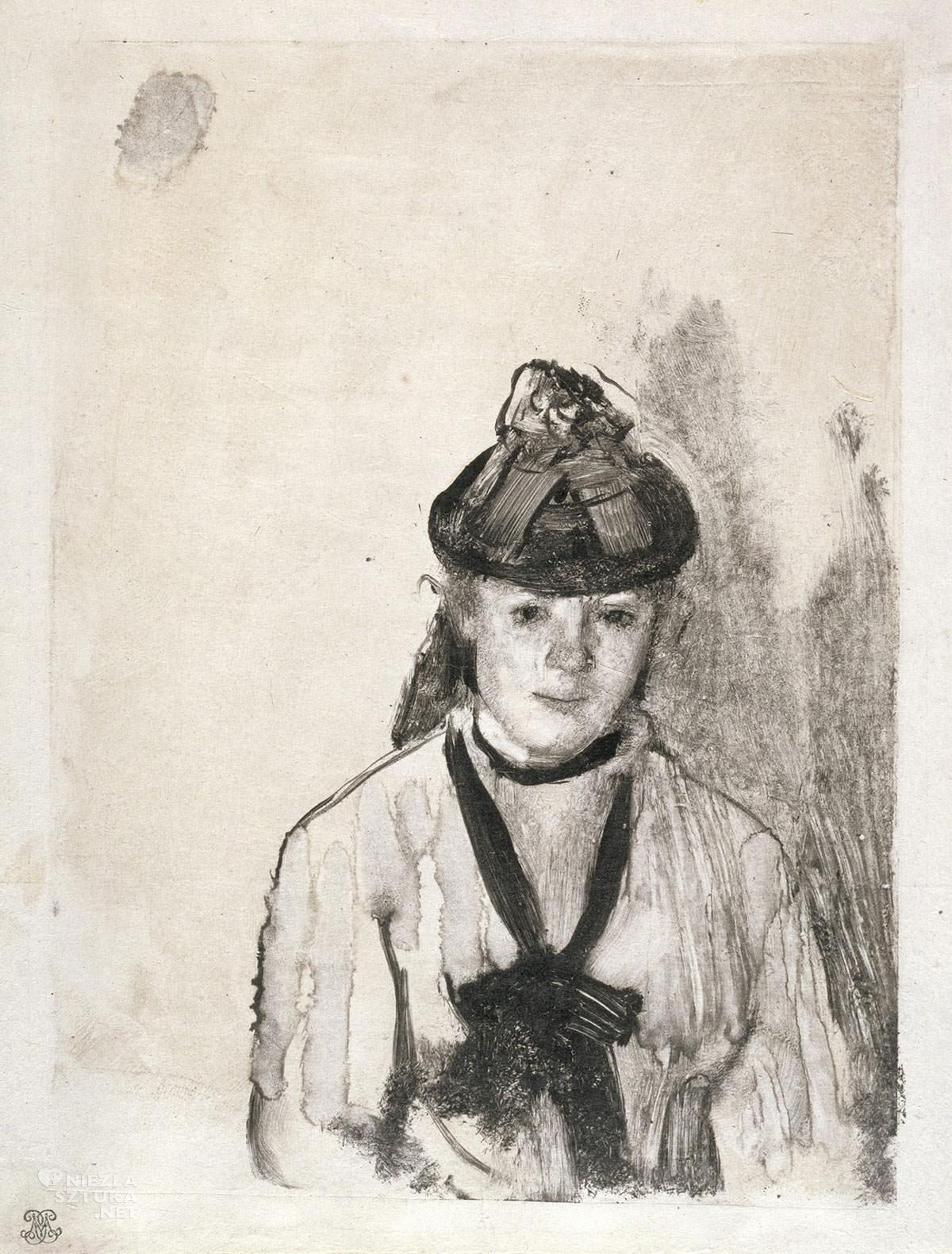 Edgar Degas, Portret Ellen Andrée, sztuka francuska, francuski malarz, impresjonizm, Niezła sztuka