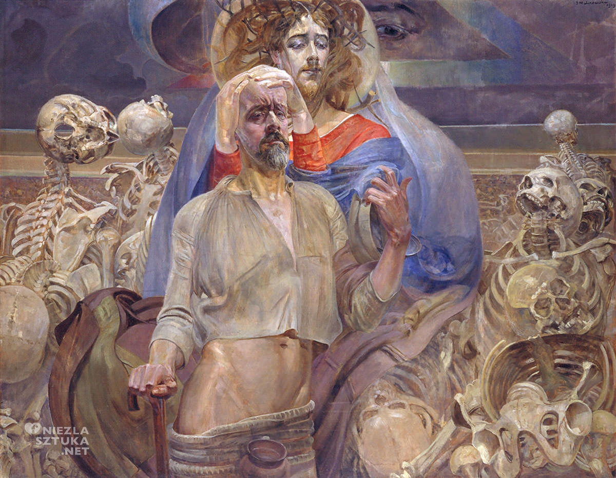 Jacek Malczewski, Wizja Ezechiela, Proroctwo Ezechiela, sztuka polska, malarstwo polskie, Niezła sztuka