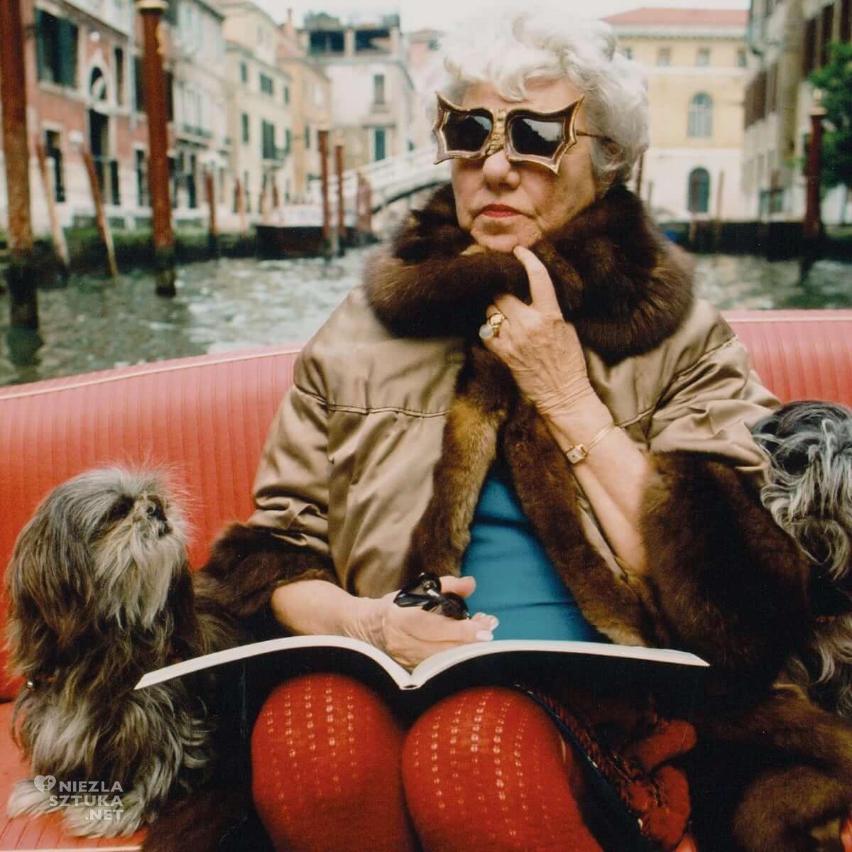 Stefan Moses, Peggy Guggenheim, Wenecja, kolekcjonerka sztuka, Niezła Sztuka