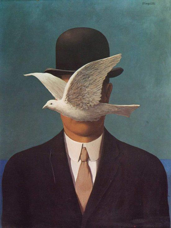 René Magritte, Mężczyzna w meloniku, surrealizm, Belgia, Niezła Sztuka