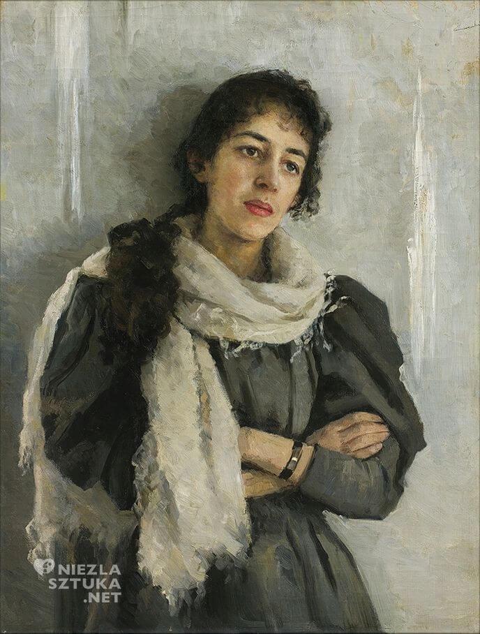 Kazimierz Stabrowski, Portret narzeczonej, kobieta, malarstwo, sztuka polska, Niezła Sztuka