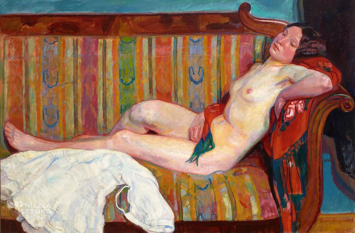 Wojciech Weiss, modelka, akt kobiecy, akt, sztuka polska, malarstwo polskie, Niezła sztuka