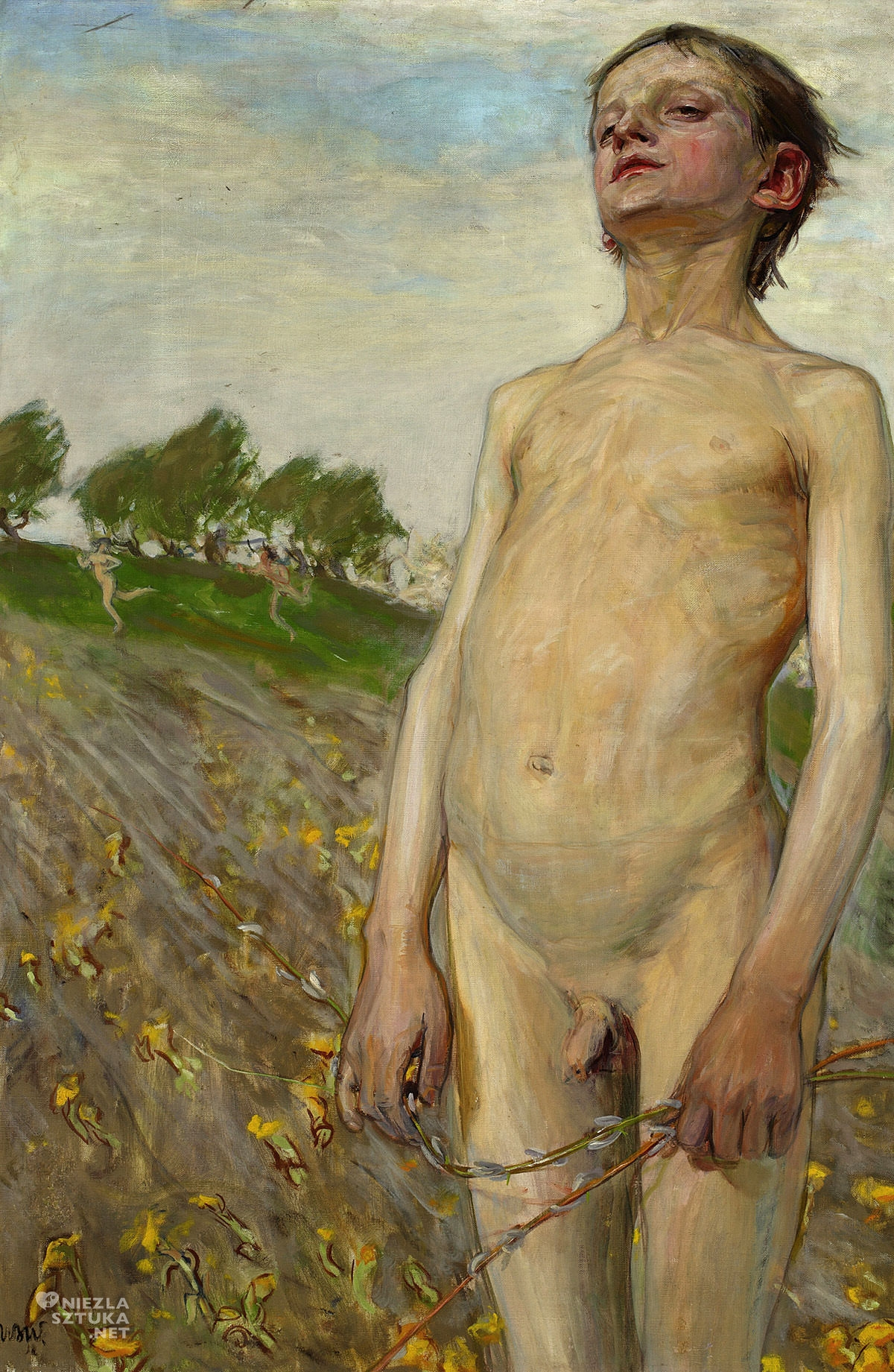 Wojciech Weiss, malarz polski, malarstwo polskie, sztuka polska, Wiosna, akt, chłopiec, Niezła sztuka