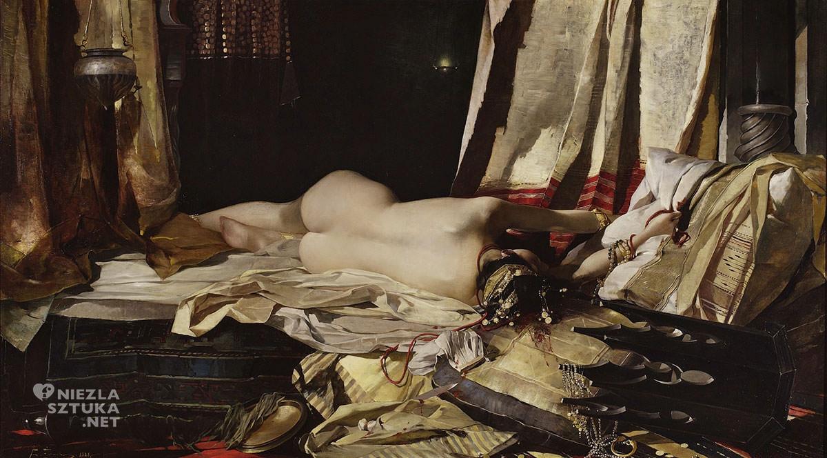Franciszek Żmurko, Z rozkazu Padyszach, Odaliska, akt kobiecy, akt, sztuka polska, malarstwo polskie, Niezła sztuka