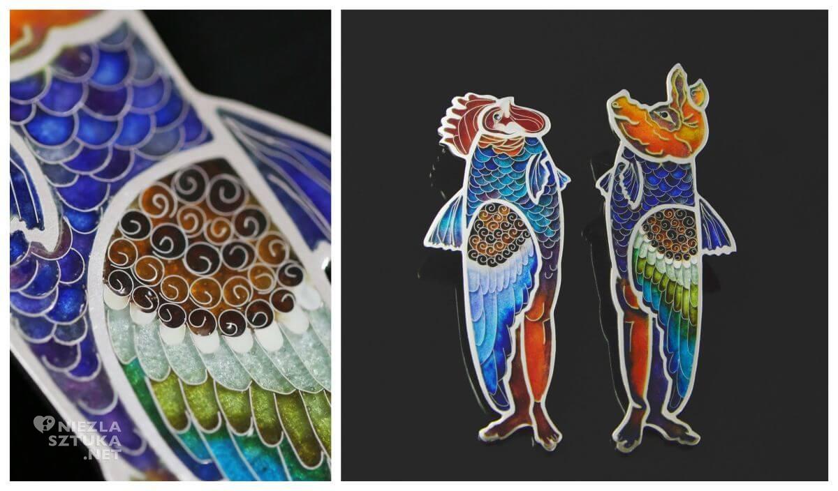 Anna Betley Enamel Art, biżuteria artystyczna, aukcja, Niezła sztuka