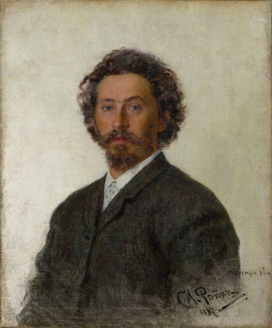 Ilja Riepin, Autoportret, sztuka rosyjska, malarstwo rosyjskie, Niezła Sztuka