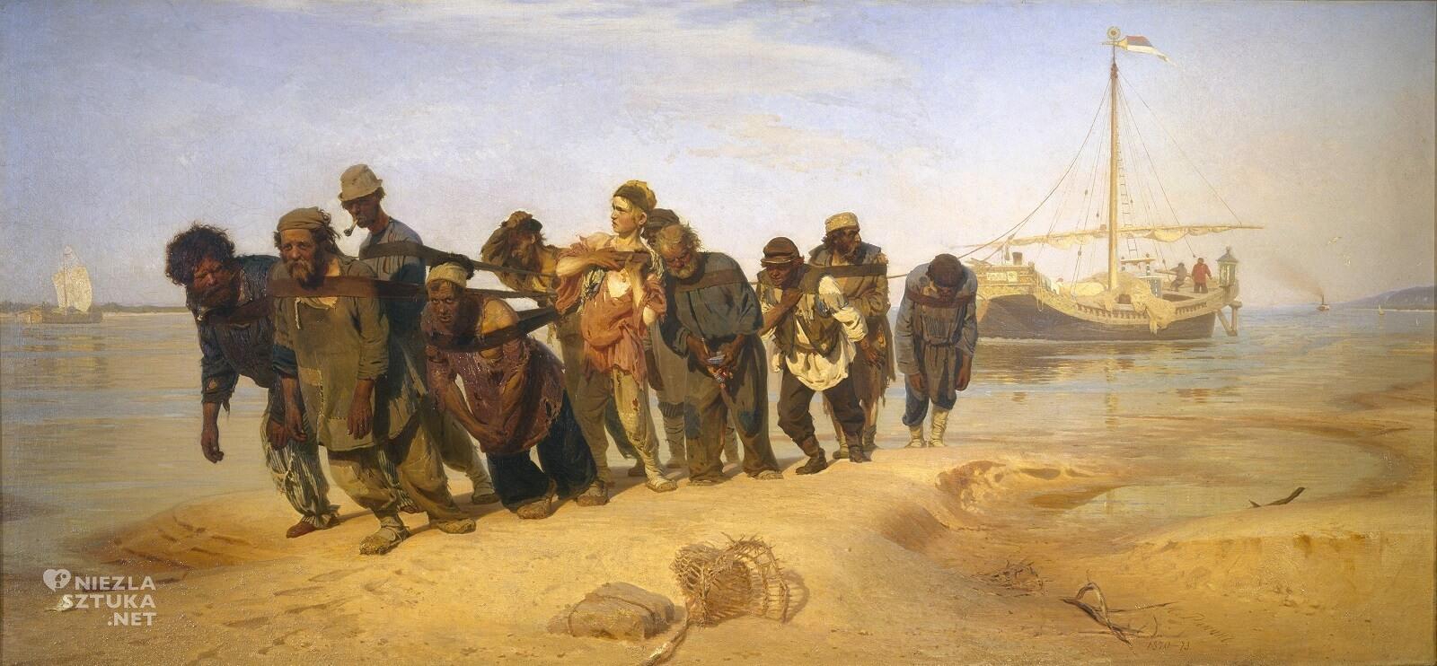 Ilja Riepin, Burłacy na Wołdze, malarstwo rosyjskie, realizm, Niezła Sztuka