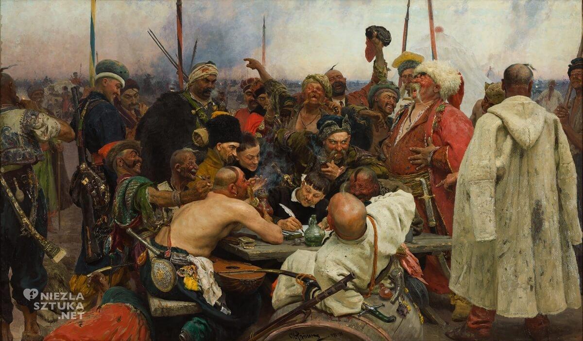 Ilja Riepin, Zaporożcy piszący list do sułtana, sztuka rosyjska, malarstwo rosyjskie, Niezła Sztuka