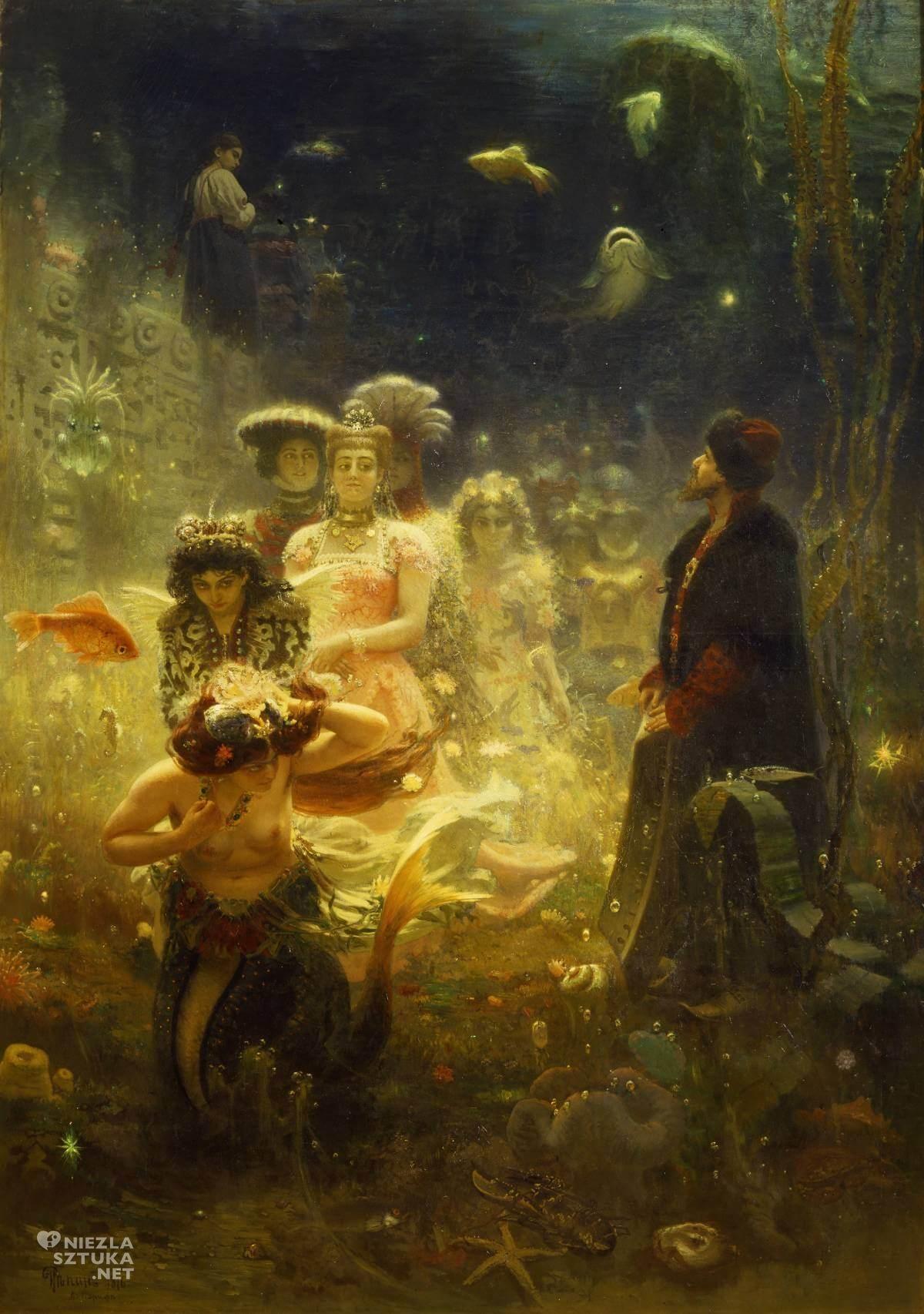 Ilja Repin, Sadko w podwodnym królestwie, sztuka rosyjska, malarstwo rosyjskie, Niezła Sztuka