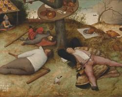 Pieter Bruegel starszy, Kraina szczęśliwości, Kukania, Kraina lenistwa, malarstwo niderlandzkie, Niezła Sztuka