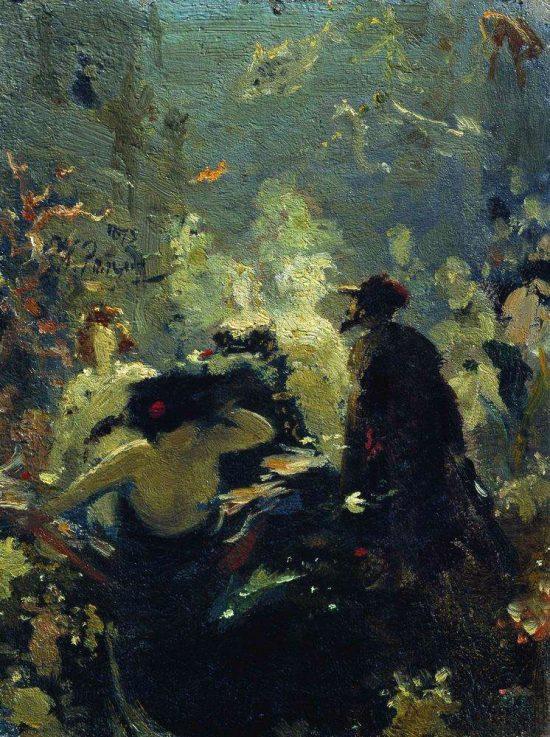 Ilja Riepin, Sadko w podwodnym królestwie, szkic, sztuka rosyjska, malarstwo rosyjskie, Niezła Sztuka