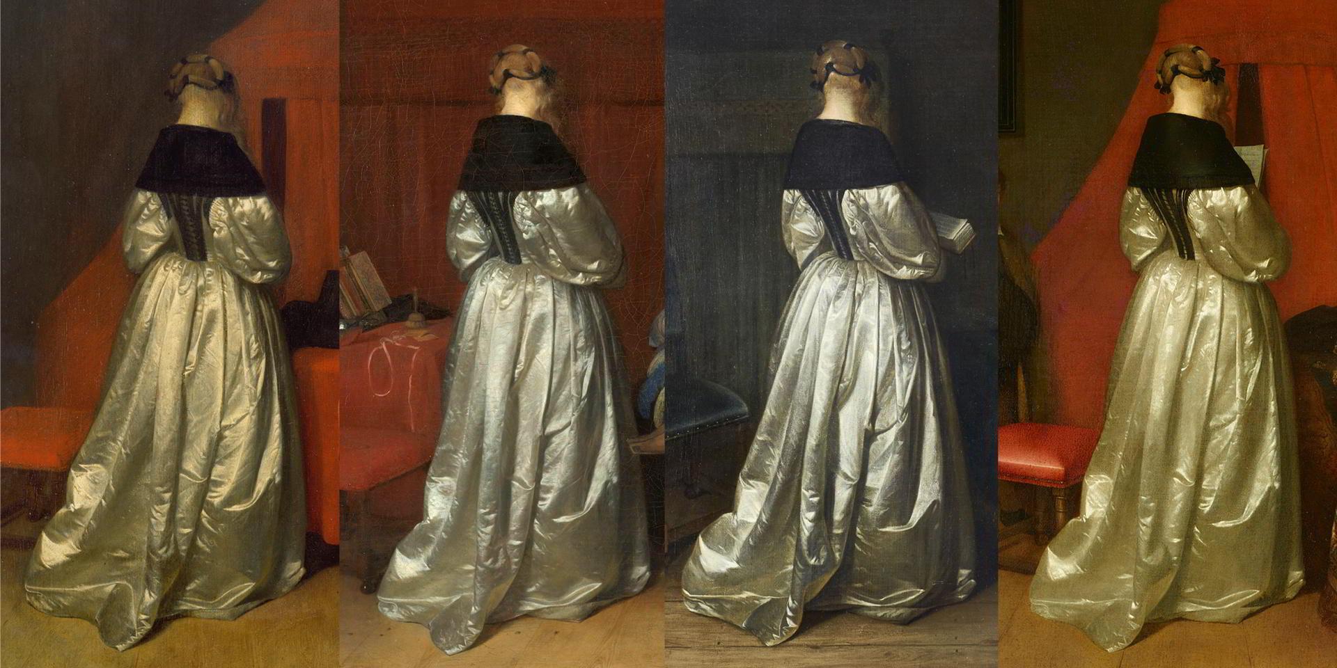 Gerard Ter Borch, kobieta, suknia, malarstwo holenderskie, Niderlandy, Niezła Sztuka