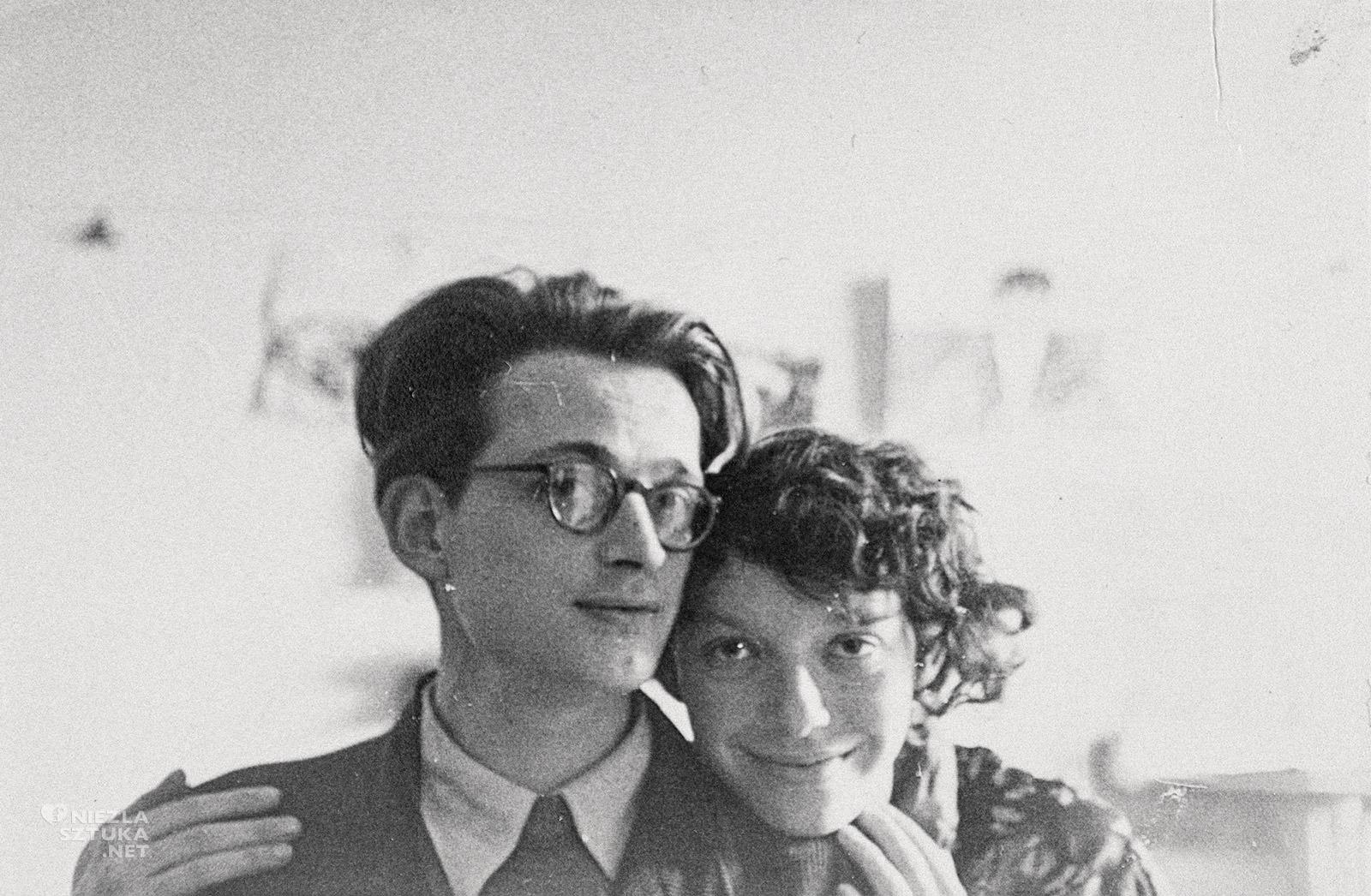 Andrzej Wróblewski, Autoportret z żoną, fotografia, artysta, sztuka polska, XX wiek, Niezła Sztuka