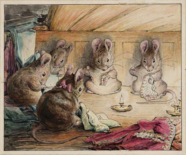 Beatrix Potter, Myszki szyjące płaszcz majora, ilustratorka, kobiety w sztuce, Niezła Sztuka