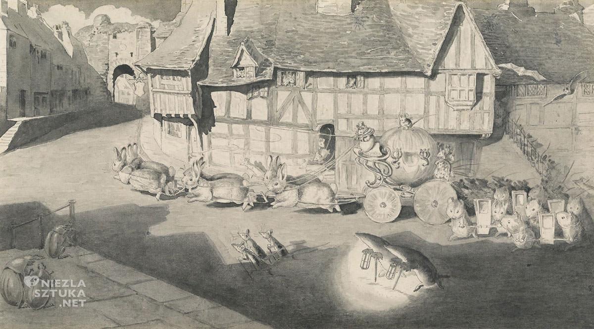 Beatrix Potter, Karoca Kopciuszka z królikami, ilustratorka, kobiety w sztuce, Niezła Sztuka